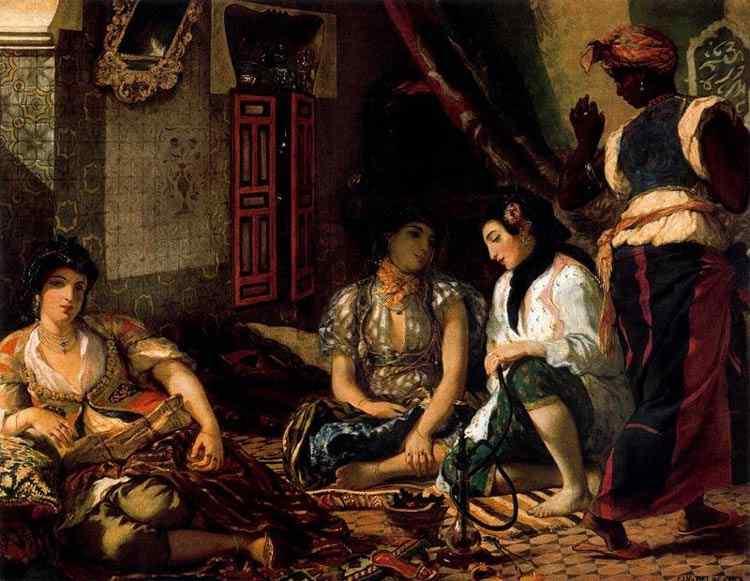 Ferdinand-Victor Eugène Delacroix - Mulheres da Argélia em suas casas
