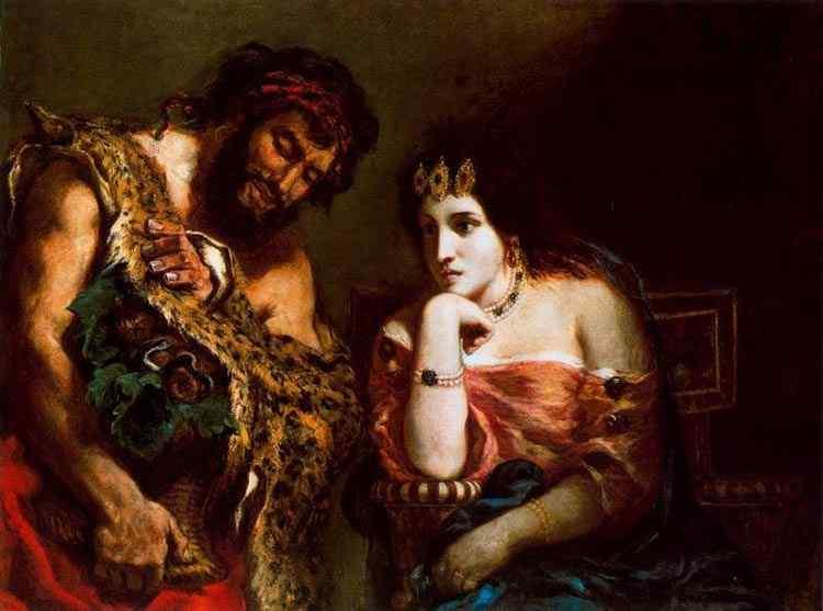 Ferdinand-Victor Eugène Delacroix - Cleópatra e o pastor