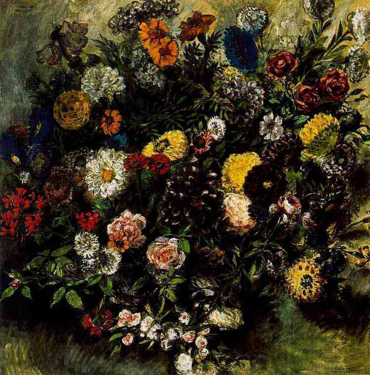 Ferdinand-Victor Eugène Delacroix - Ramo de flores