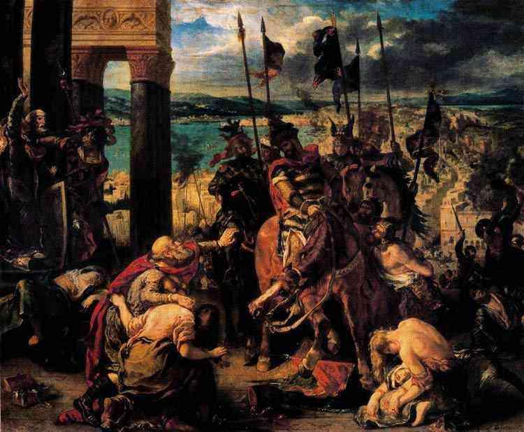 Ferdinand-Victor Eugène Delacroix - Entrada dos Cruzados em Constantinopla, em 1204