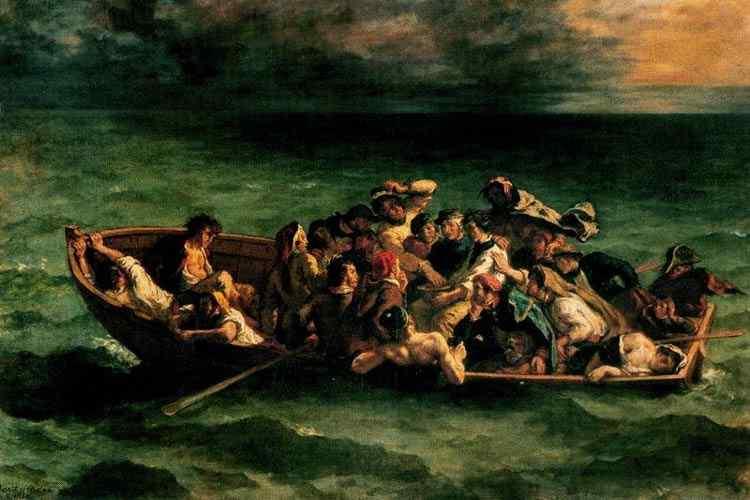 Ferdinand-Victor Eugène Delacroix - O naufrágio do Dom Juan