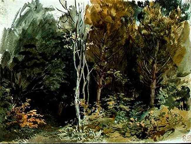 Ferdinand-Victor Eugène Delacroix - A borda de uma madeira em Nohant