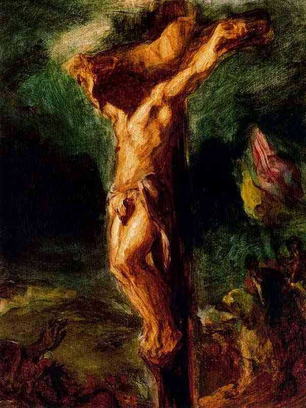 Ferdinand-Victor Eugène Delacroix - Cristo na cruz