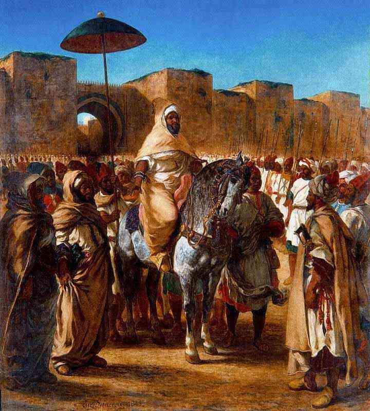 Ferdinand-Victor Eugène Delacroix - Mulay Abderramán, sultão do Marrocos, saindo de seu palácio em Meknes