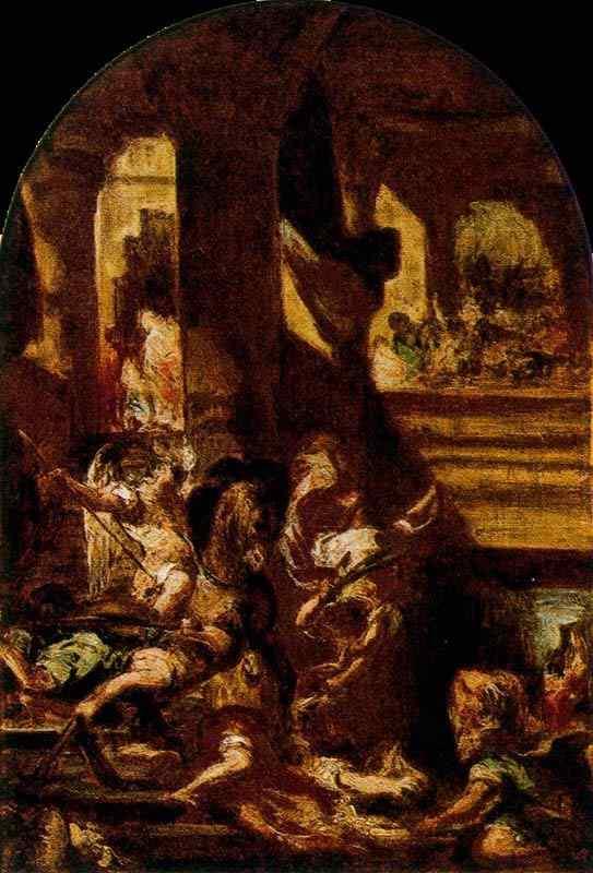 Ferdinand-Victor Eugène Delacroix - A expulsão de Heliodoro do templo