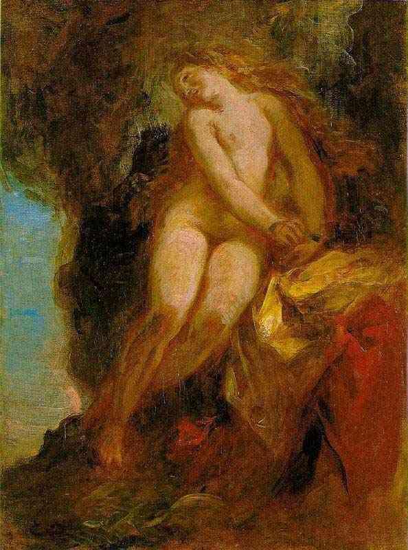 Ferdinand-Victor Eugène Delacroix - Andrômeda