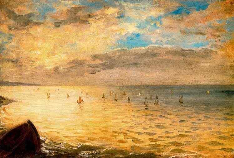 Ferdinand-Victor Eugène Delacroix - O mar desde aaltra de Dieppe