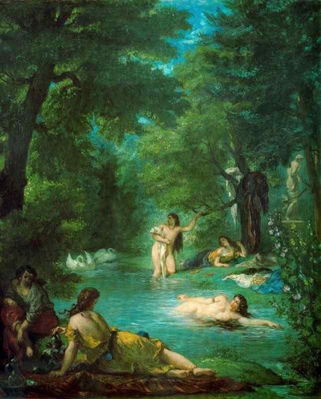 Ferdinand-Victor Eugène Delacroix - Mulheres turcas no banho