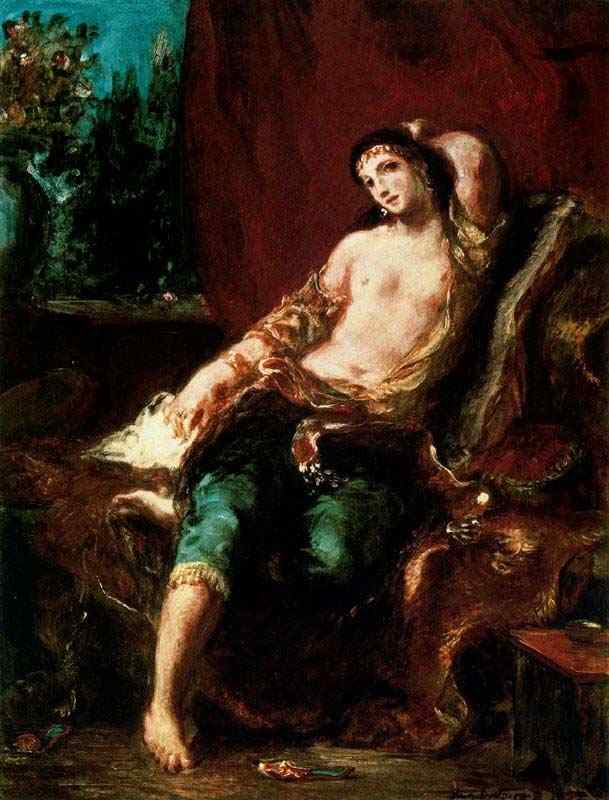 Ferdinand-Victor Eugène Delacroix - Odalisca