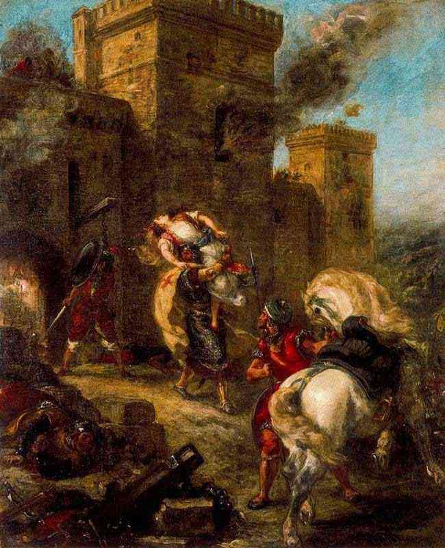 Ferdinand-Victor Eugène Delacroix - O rapto de Rebeca