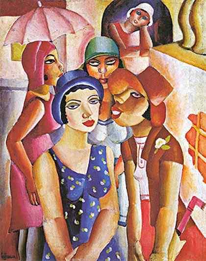 Diego Rivera (Diego María de la Concepción Juan Nepomuceno Estanislao de la Rivera) - Cinco moças de Guaratinguetá