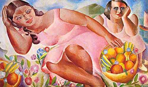 Diego Rivera (Diego María de la Concepción Juan Nepomuceno Estanislao de la Rivera) - Mulheres com frutas