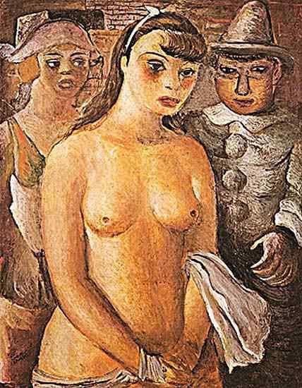 Diego Rivera (Diego María de la Concepción Juan Nepomuceno Estanislao de la Rivera) - Nu e arlequins