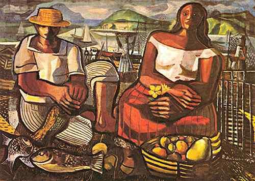 Diego Rivera (Diego María de la Concepción Juan Nepomuceno Estanislao de la Rivera) - Pescadores