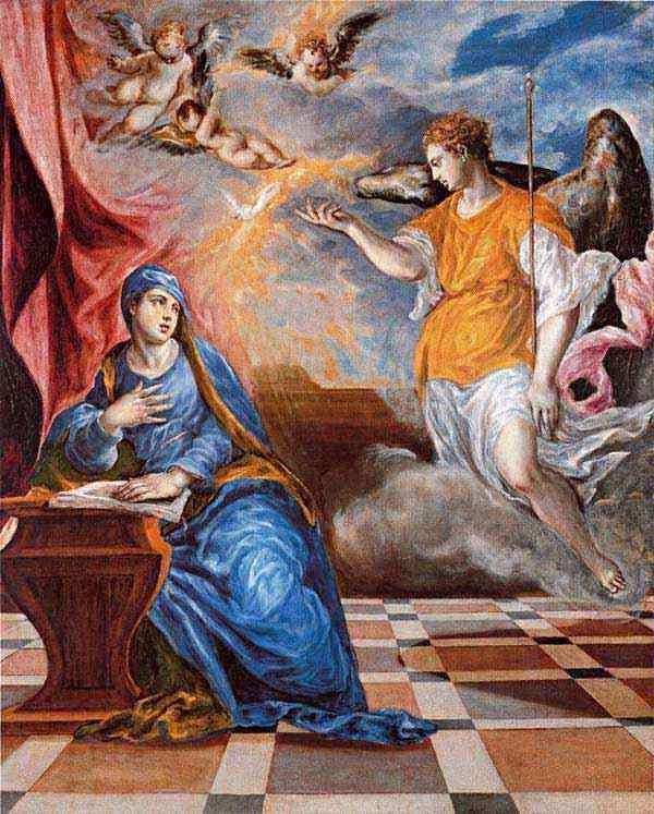 Domenikos Theotokópoulos El Greco - Anunciação da época italiana