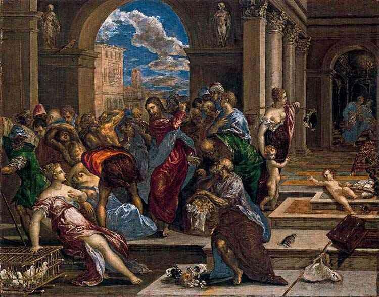 Domenikos Theotokópoulos El Greco - A expulsão dos mercadores do templo