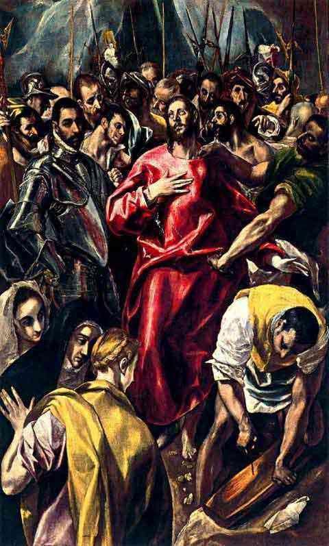 Domenikos Theotokópoulos El Greco - Expolio de Cristo