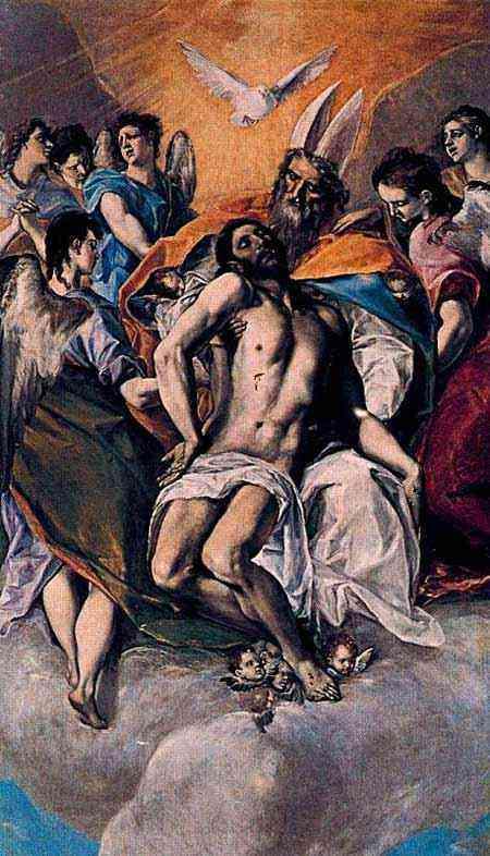 Domenikos Theotokópoulos El Greco - A Trindade