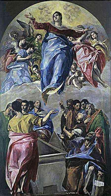 Domenikos Theotokópoulos El Greco - Ascenção da Virgem