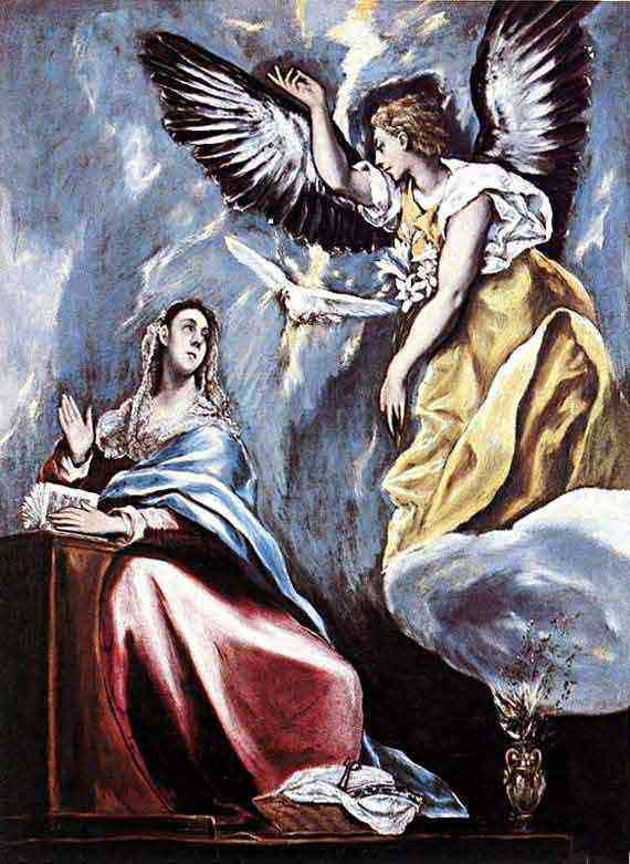 Domenikos Theotokópoulos El Greco - Anunciação