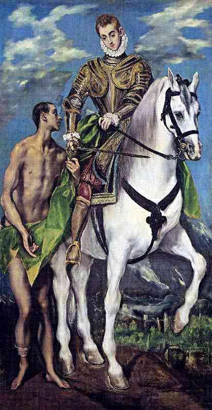 Domenikos Theotokópoulos El Greco - São Martim e o mendigo
