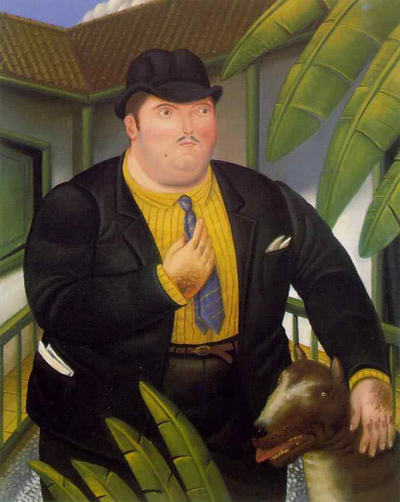 Fernando Botero - Homem com cachorro