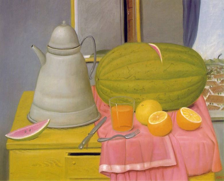 Fernando Botero - Natureza morta com melancia