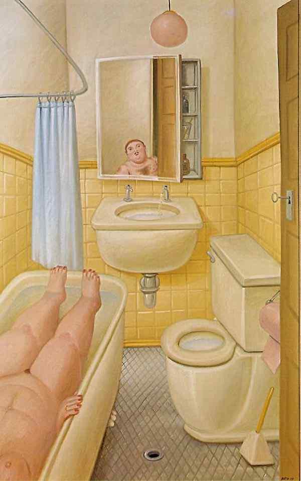 Fernando Botero - O banheiro