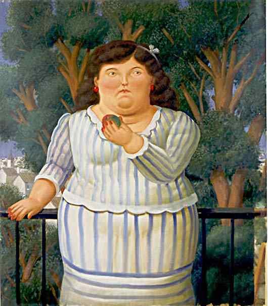 Fernando Botero - No balcão