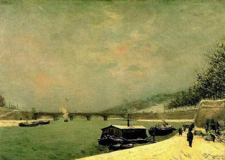 Eugène-Henri-Paul Gauguin - O Sena com a Ponte d