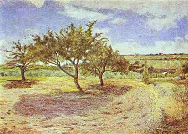 Eugène-Henri-Paul Gauguin - Macieiras em flor