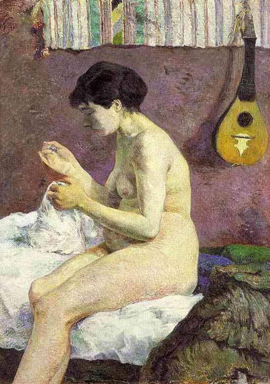 Eugène-Henri-Paul Gauguin - Susana costurando