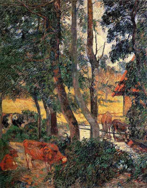 Eugène-Henri-Paul Gauguin - Gado no pântano