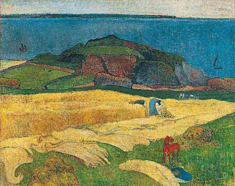 Eugène-Henri-Paul Gauguin - Colheita: Le Pouldu
