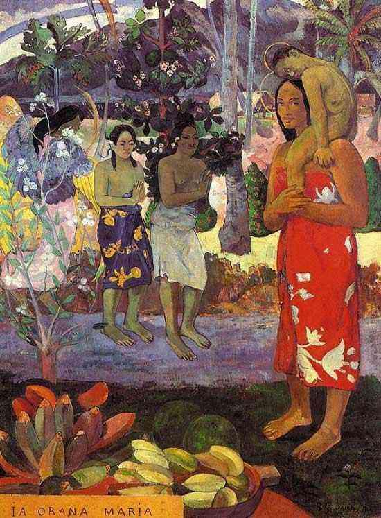 Eugène-Henri-Paul Gauguin - Ia orana Maria