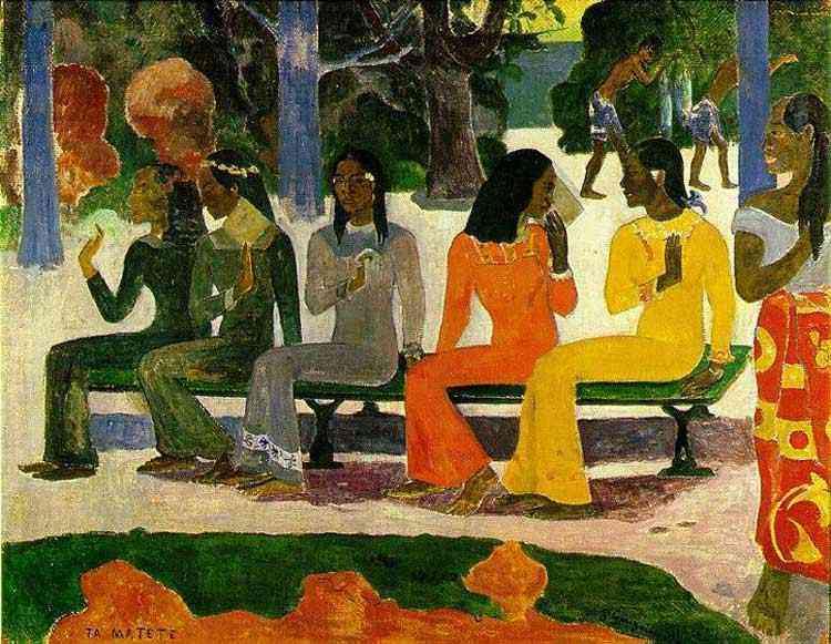 Eugène-Henri-Paul Gauguin - O mercado