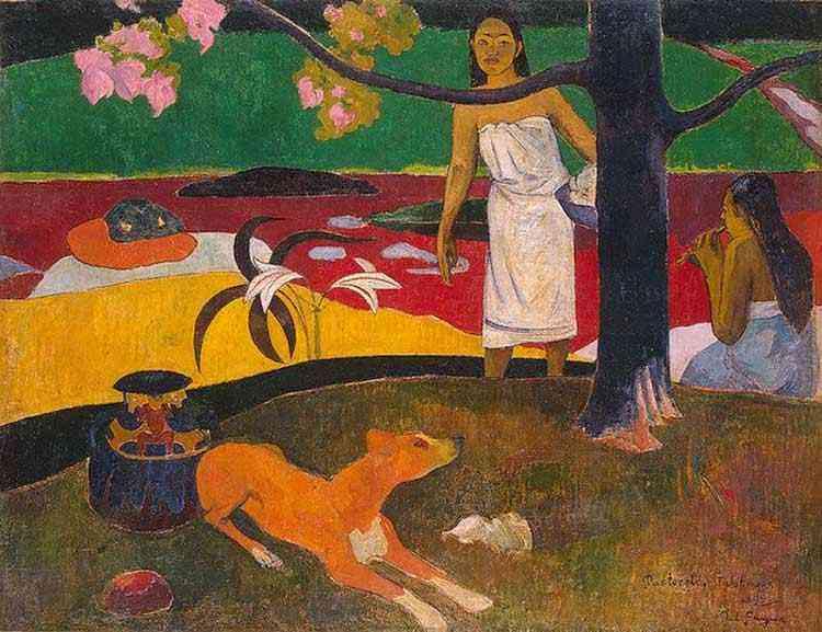 Eugène-Henri-Paul Gauguin - Cenas das pastoras taitianas