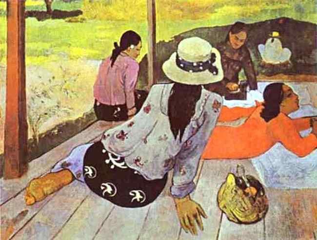 Eugène-Henri-Paul Gauguin - A sesta
