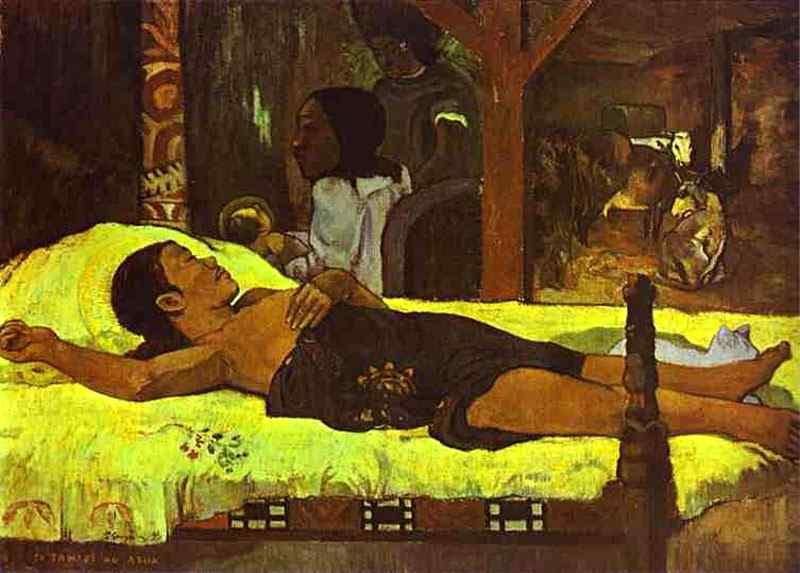 Eugène-Henri-Paul Gauguin - Natividade (Te tamari no atua)