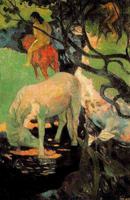 Eugène-Henri-Paul Gauguin - O cavalo branco
