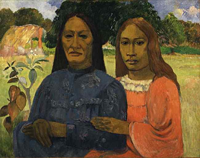 Eugène-Henri-Paul Gauguin - Duas mulheres