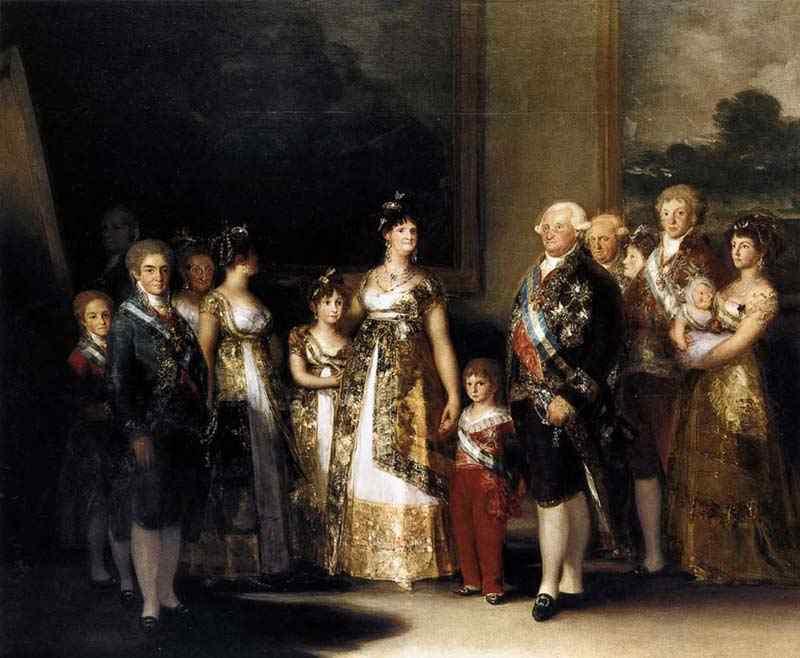 Francisco José de Goya Y Lucientes Goya - Carlos IV e sua família