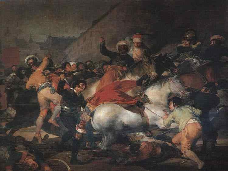 """Francisco José de Goya Y Lucientes Goya - A luta com os mamelucos (também conhecido como """"O 2 de Maio de 1808, em Madri"""")"""