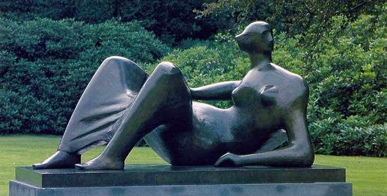 Henry Moore - Figura reclinando: ângulos