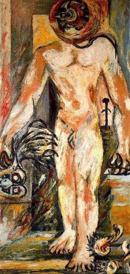 Jackson Pollock - Sem título (Homem nu)