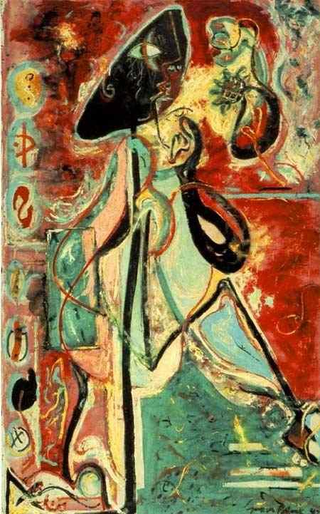 Jackson Pollock - A mulher-lua