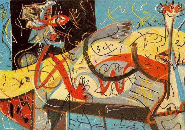 Jackson Pollock - figura Estenográfica