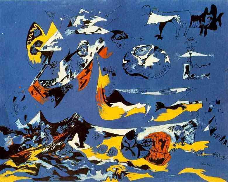 Jackson Pollock - Azul (Moby Dick)