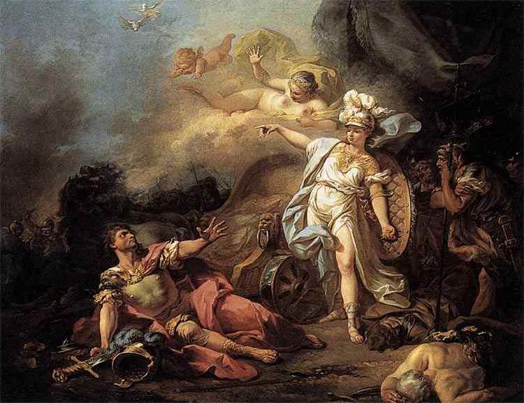 Jacques-Louis David - O combate de Marte e Minerva