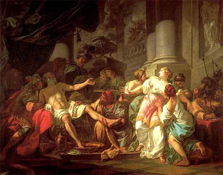 Jacques-Louis David - A morte de Sêneca
